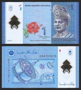 MALÁSIA .n51a (MALAYSIA) - 1 RINGGIT (2011) NOVA