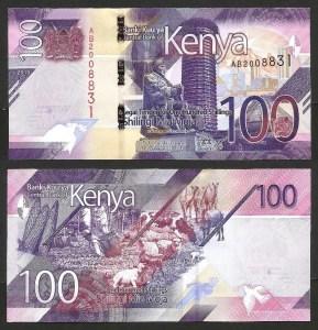 QUÉNIA .nv2 (KENYA) - 100 SHILLINGS (2019) NOVA