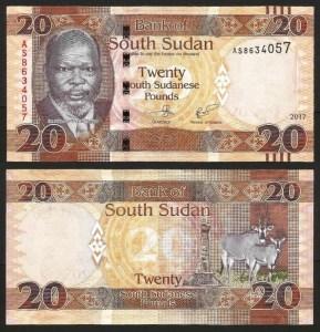 SUDÃO DO SUL .n13c (SOUTH SUDAN) - 20 LIBRAS (2017) NOVA