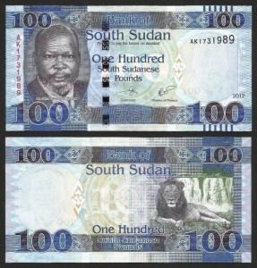 SUDÃO DO SUL .n15c (SOUTH SUDAN) - 100 LIBRAS (2017) NOVA