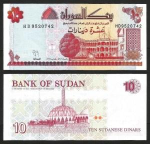 SUDÃO .n52a (SUDAN) - 10 DINARES (1993) NOVA