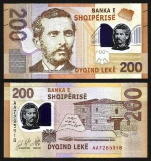 ALBÂNIA .nv1 (ALBANIA) - 200 LEKE (2017) NOVA
