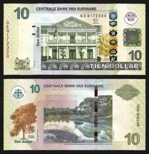 SURINAME .n163b - 10 DOLLARS (2012) NOVA... Esc.