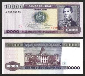 BOLÍVIA .n169 - 10.000 PESOS B. (Dec. 1984) NOVA