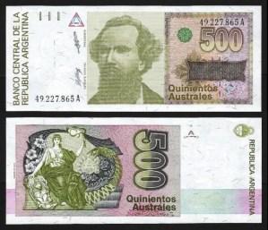 ARGENTINA .n328a - 500 AUSTRALES (1988/90) NOVA… Esc.