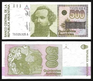 ARGENTINA .n328b - 500 AUSTRALES (1988/90) NOVA