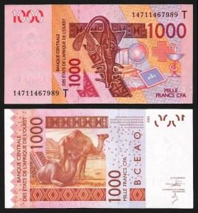 TOGO .n815Tn - 1.000 FRANCOS (2014/2003) QNOVA