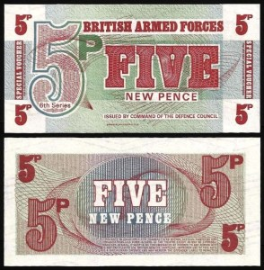 INGLATERRA FA .n47 (GREAT BRITAIN MILITARY) - 5 NEW PENCE (1972) NOVA