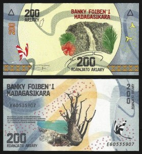 MADAGÁSCAR .n098 - 200 ARIARY (2017) NOVA