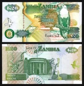 ZÂMBIA .n36b (ZAMBIA) - 20 KWACHA (1992) NOVA