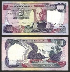 ANGOLA (30)6 - 1.000 ESCUDOS 'Mar. Carmona' (1972) CIRC.