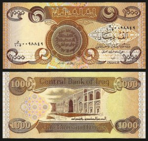 IRAQUE .n93c (IRAQ) - 1.000 DINARES (2013) NOVA