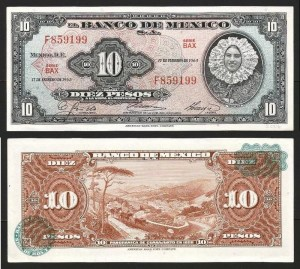 MÉXICO .n058k - 10 PESOS (1965) QNOVA… Esc.