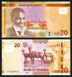 NAMÍBIA .n17b - 20 DOLLARS (2018) NOVA