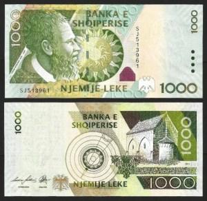 ALBÂNIA .n73b (ALBANIA) - 1.000 LEKE (2011) NOVA