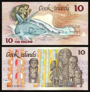 ILHAS COOK .n04 (COOK ISLANDS) - 10 DOLLARS (1987) NOVA… Dif.