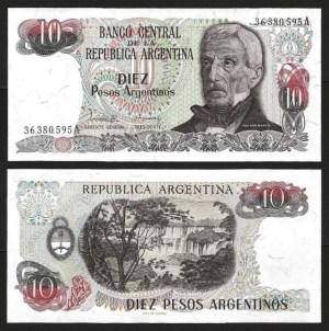 ARGENTINA .n313a-1 - 10 PESOS (1983/84) NOVA