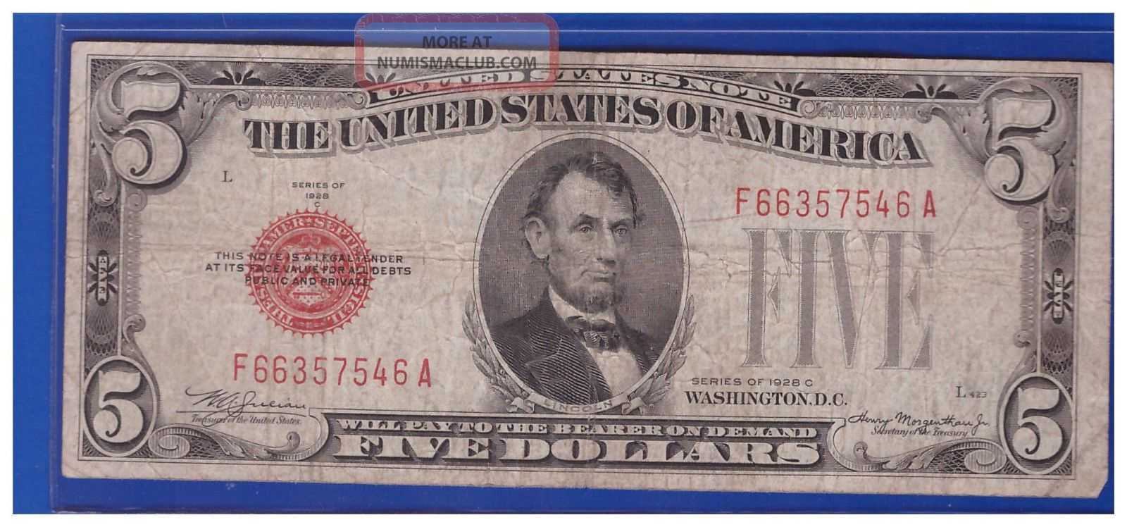 Five Dollar Silver Certificate 1953 Value
