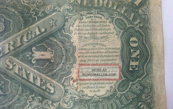 1917 United States One Dollar Bill Red Seal Circulated