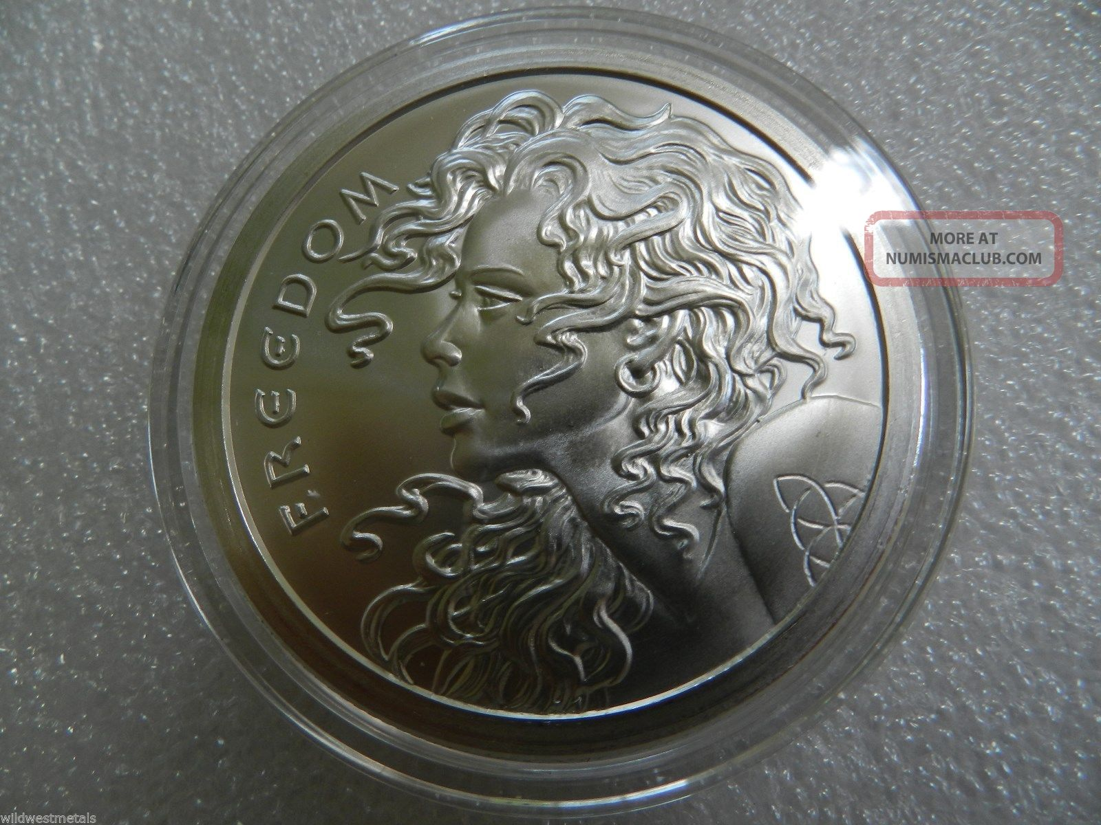 5 Oz Freedom Girl 100 Minted Very Rare