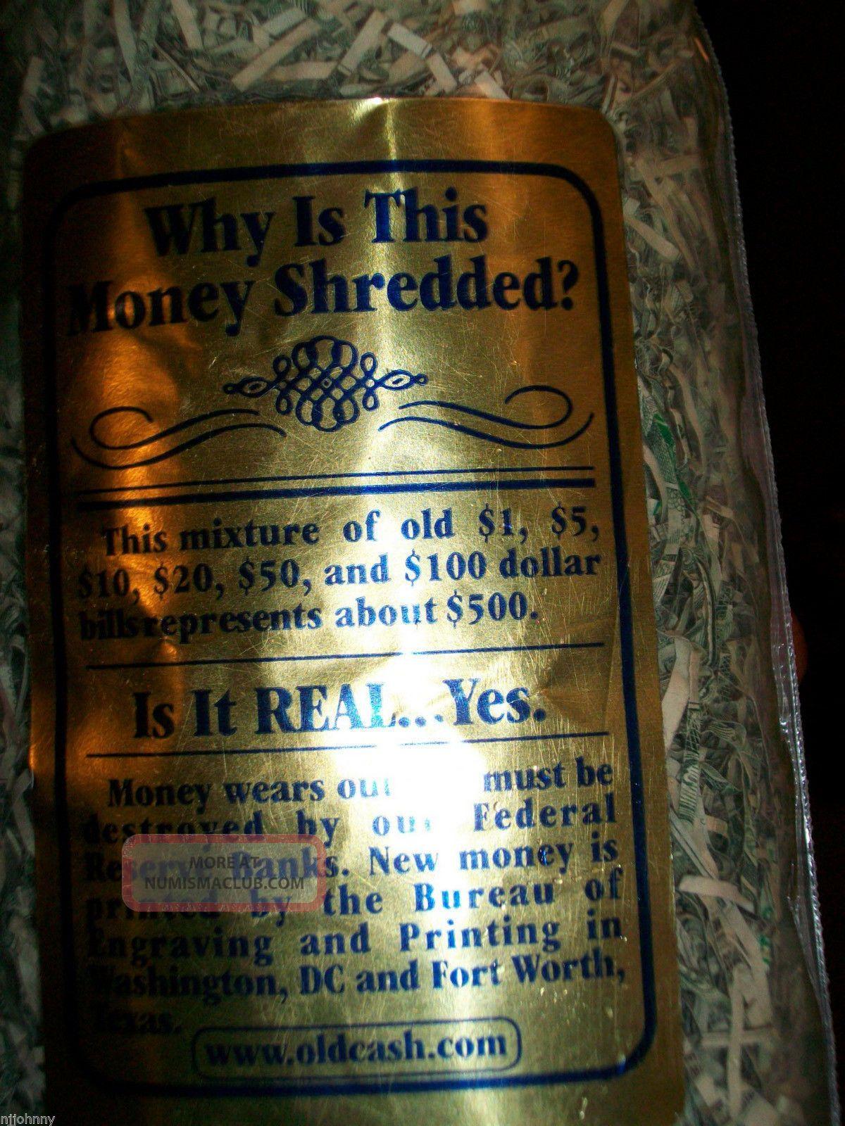 Bag Of United States Of America Real Shredded Money 1