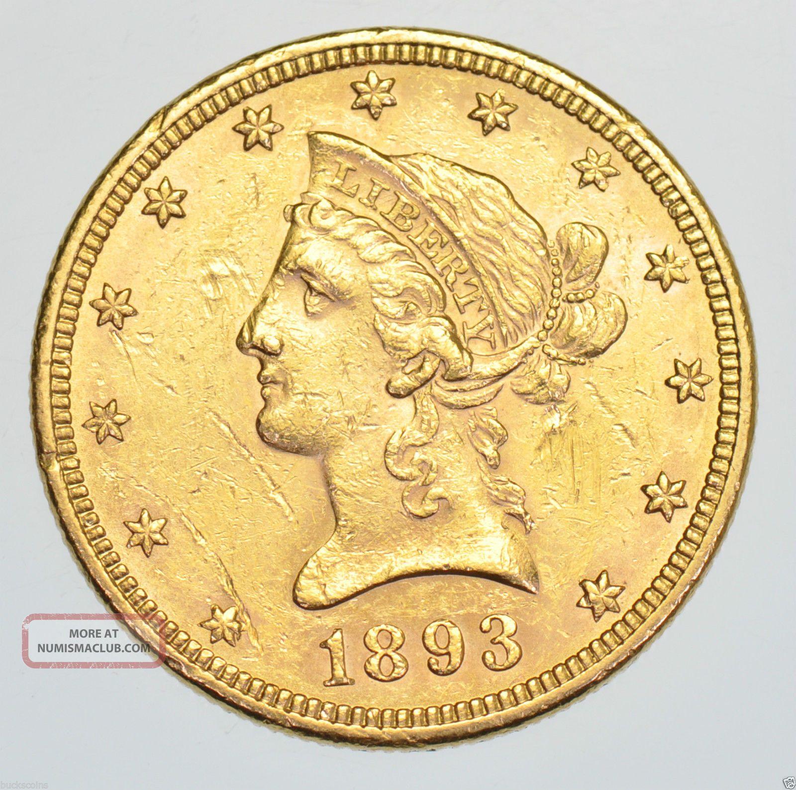 Usa United States Ten Dollars 10 Liberty Head