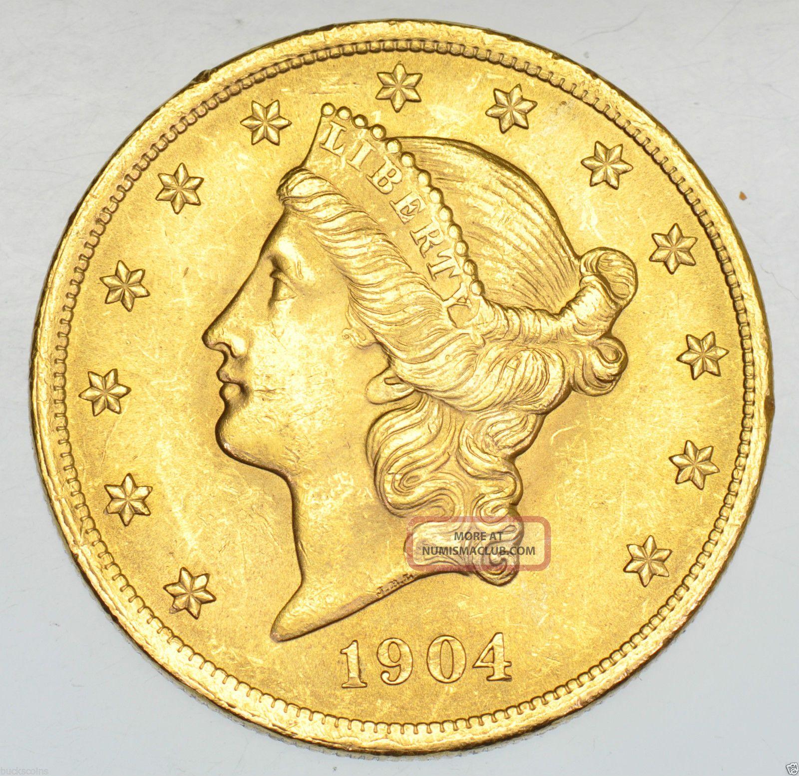 Usa United States Double Eagle Twenty Dollars 20