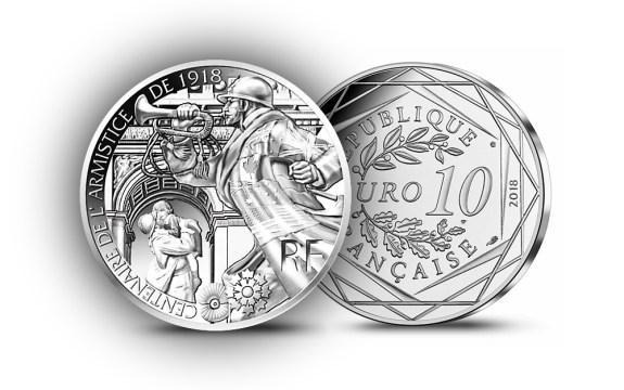 10 en Argent - Pièces 100 ans de l'Armistice - Bleuet - monnaie de Paris 2018