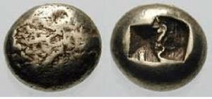 Ionia – zecca incerta prima metà VII sec. aC EL Trite