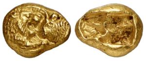Lydia – Croisos – AU stater 560-546 aC