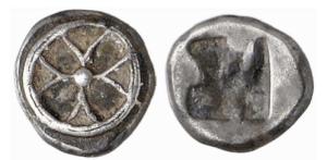 Atene – Wappenmünzen – AG obolo 550 aC