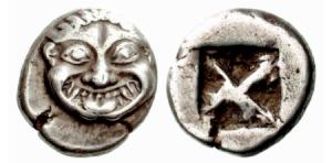 Atene – Wappenmünzen – AG didramma 520 aC