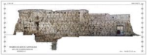 Fig.4 - Ricostruzione grafica dei resti del Muro Romano