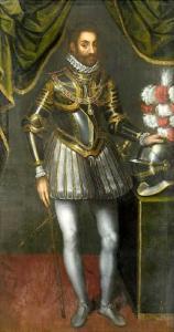 Fig.1 Emanuele Filiberto in un ritratto di Scipione Pulcione (immagine tratta dal sito internet www.wikipedia.it)