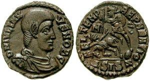 Figura 1) Giuliano II Cesare. 355-361 AD. Æ 18mm (2.85 g). Zecca di Siscia. DN IVLIAN-VS NOB C, capo scoperto, drappeggiato e busto corazzato rivolto a destra / FEL TEMP REPARATIO, soldato stante a sinistra che trafigge un cavaliere cadente; M-//DSISZ. RIC VIII 371; LRBC 1235. (www.cngcoins.com)
