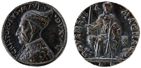 """National Gallery of Art di Washington D.C., medaglia rappresentante il Doge Cristoforo Moro, prodotta da Antonello Grifo, detto """"della Moneta"""""""