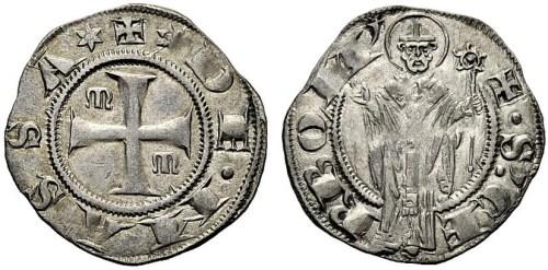 Figura 7: Zecca Massa di Maremma Repubblica (1317--1319 circa) Grosso da 20 denari. Prov. Asta NAC 68, 4 dicembre 2012, lotto 46.