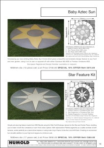 Numold - Moulds for Concrete Products - ABS Price List Page 14 - Baby Aztec Sun & Star Feature