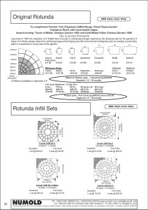Numold - Moulds for Concrete Products - ABS Price List Page 25 - Original Rotunda