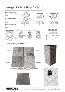 Numold - Moulds for Concrete Products - ABS Price List Page 31 - Utility Paving