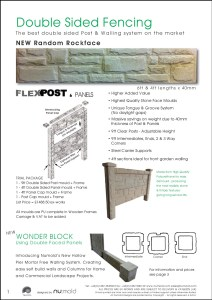 Numold - Moulds for Concrete Products - PU Price List Page 1 - Double sided fencing