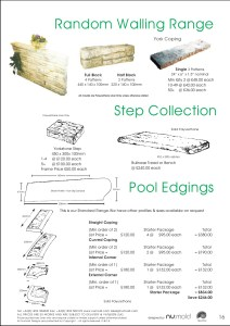 Numold - Moulds for Concrete Products - PU Price List Page 16 - Random Walling & Swimming Pool Copings