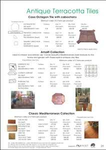 Numold - Moulds for Concrete Products - PU Price List Page 24 - Antique Terracotta Tiles