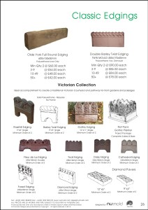 Numold - Moulds for Concrete Products - PU Price List Page 26 - Classic Edgings