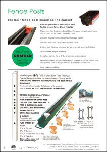Numold - Moulds for Concrete Products - PU Price List Page 5 - Fence Post Moulds