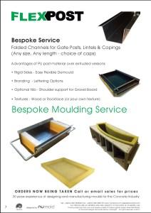 Numold - Moulds for Concrete Products - PU Price List Page 7 - Flexpost Moulding Service