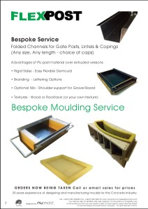 Numold - Moulds for Concrete Products - PU Price List Page 7 - Flexpost Moulding Service