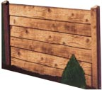 timber lap fencing