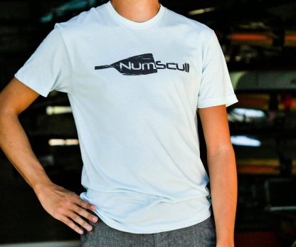 Unisex Numscull Distressed Logo Polyester/cotton blend tee.
