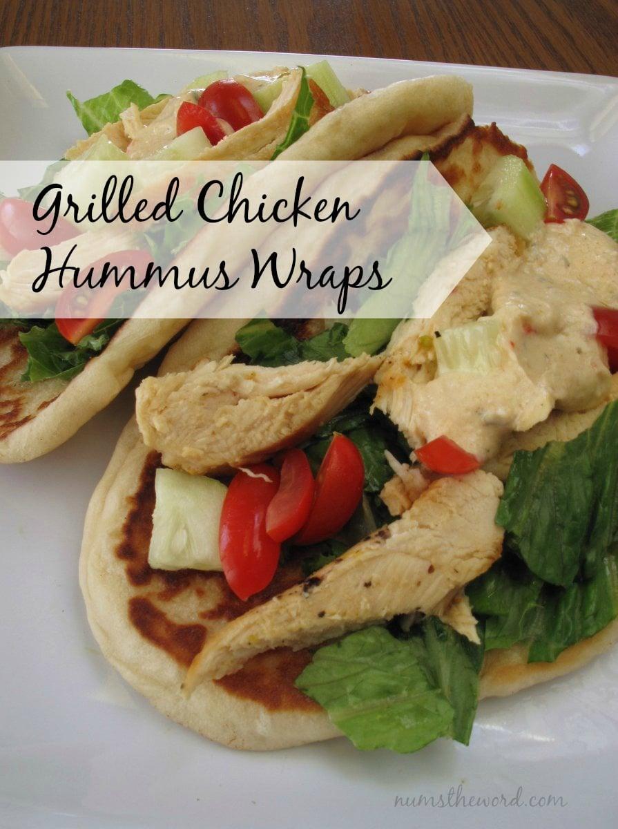grilled chicken hummus wrap